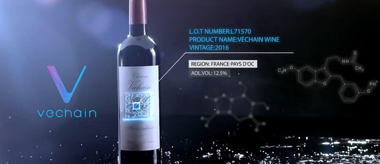 application de vechain sur le vin