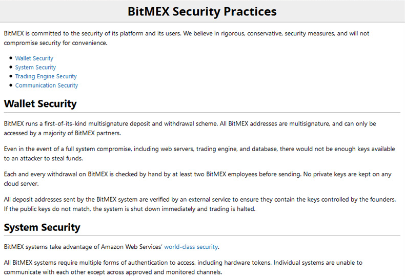 bitmex securite