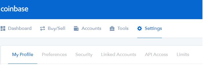 coinbase 2fa profil