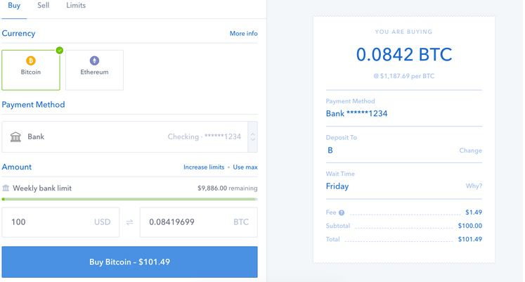 interface coinbase