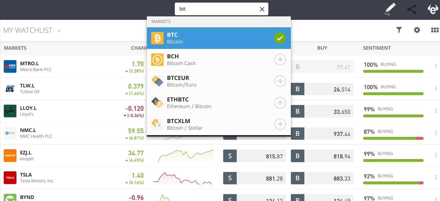 acheter des bitcoin sut etoro guide