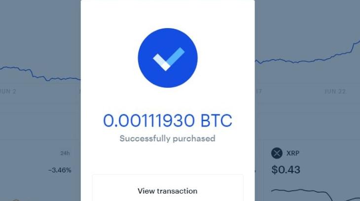 achat bitcoin coinbase