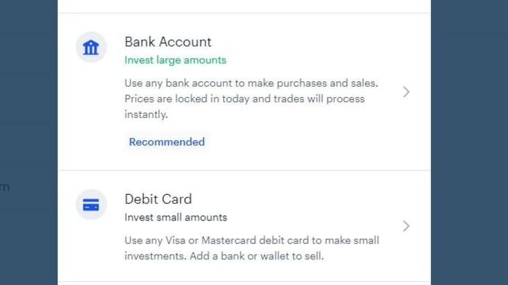 méthode de paiement sur coinbase acheter bitcoin