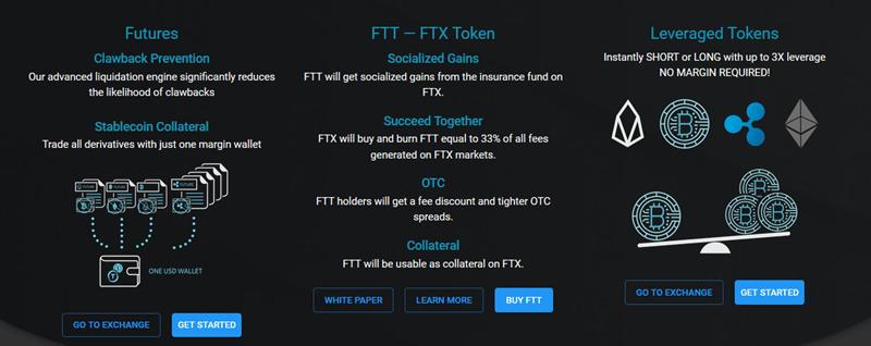 FTX caracteristiques